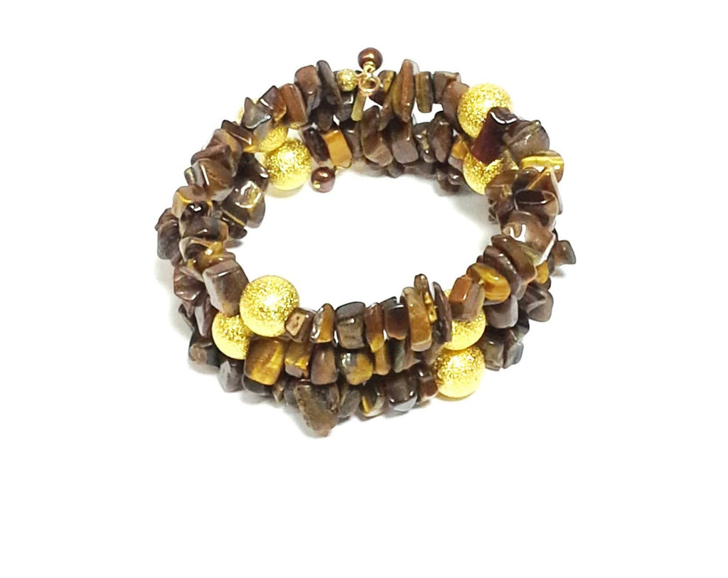 Tiger-Eye Gemstone Wrap - MINU Jewels