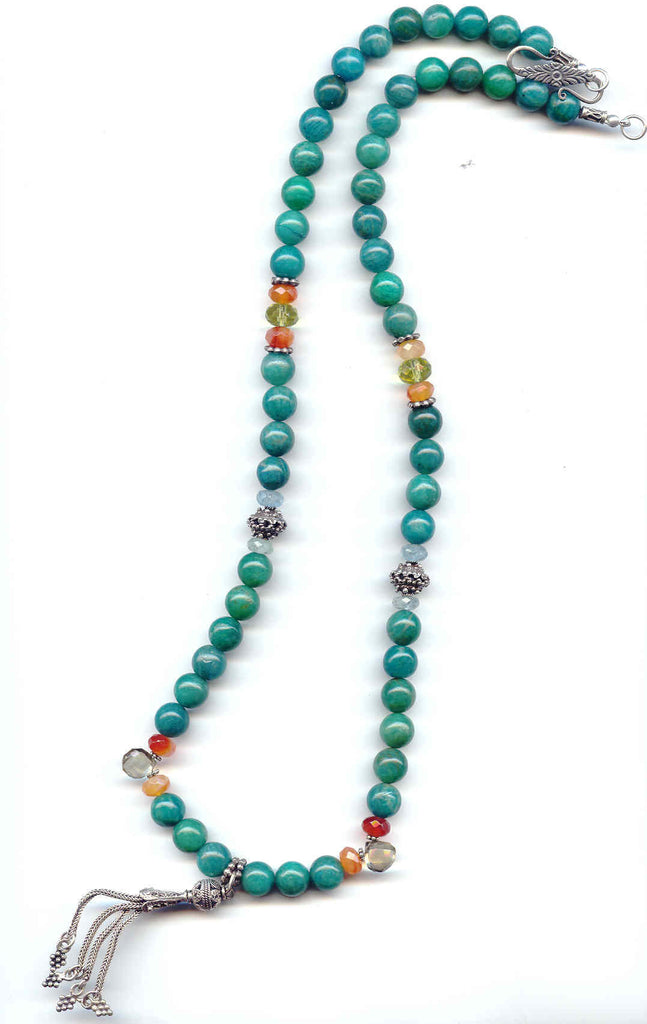 Amazonite Tassel Necklace - MINU Jewels