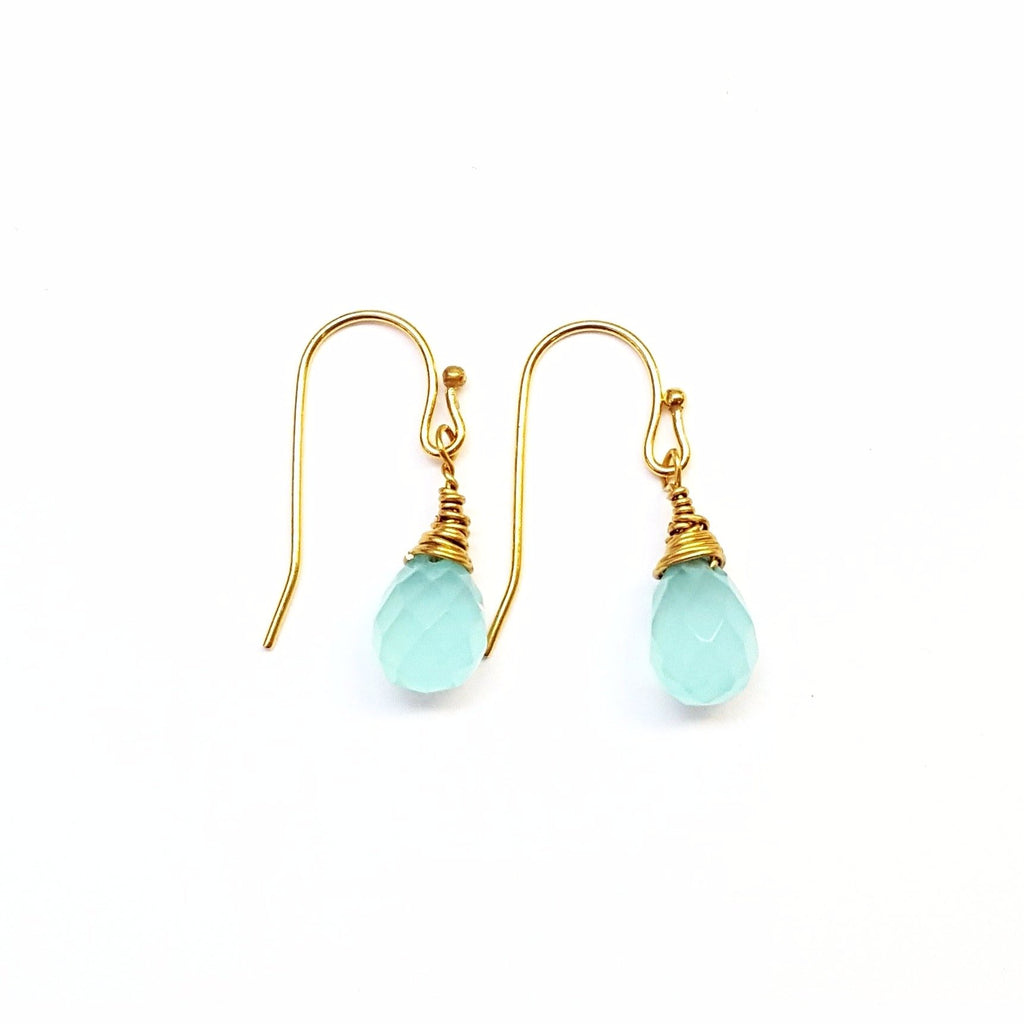 Blue Chalcedony Earrings - MINU Jewels