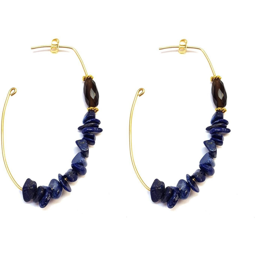 Crescent Chip Hoops - Colors Available