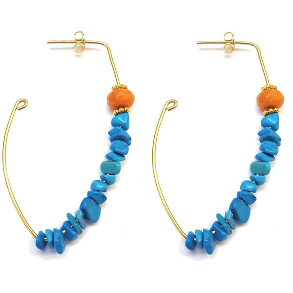 Crescent Chip Hoops - Colors Available - MINU Jewels