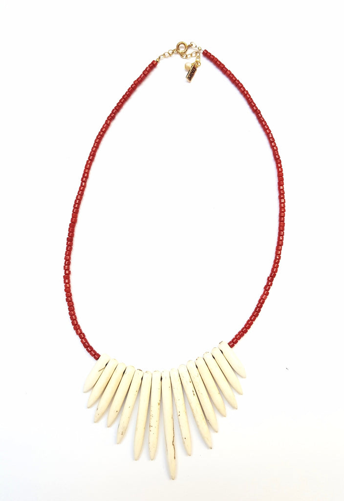 Coral Magnesite Necklace