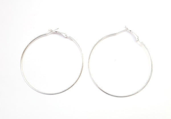 Silver Color Hoops
