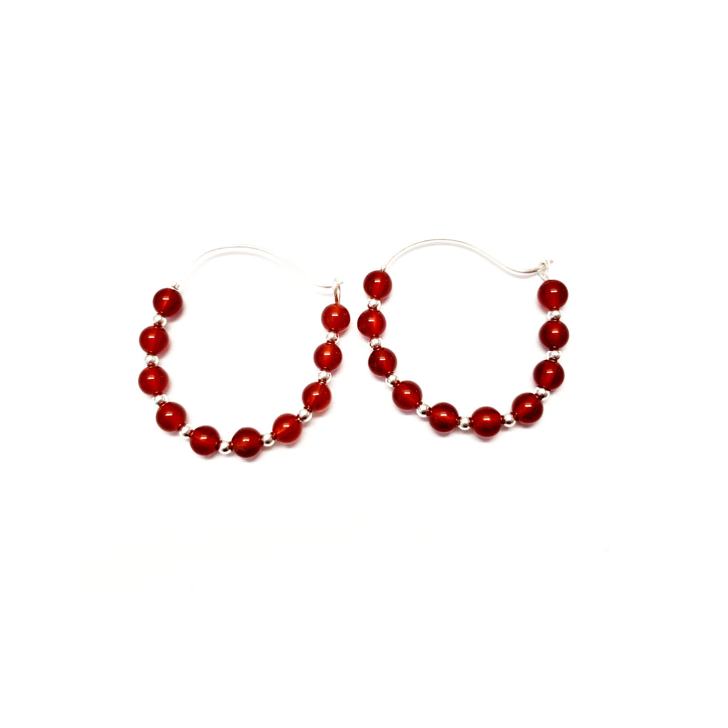 Carnelian Hoops - MINU Jewels