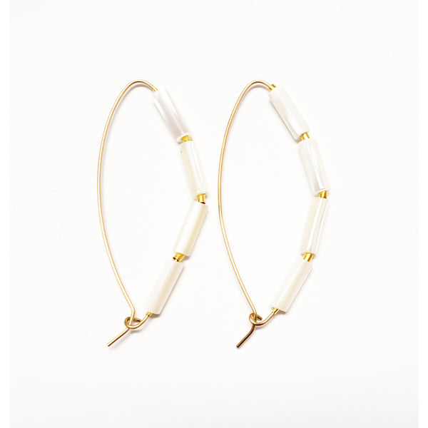 Slider Mother-of-Pearl Hoops
