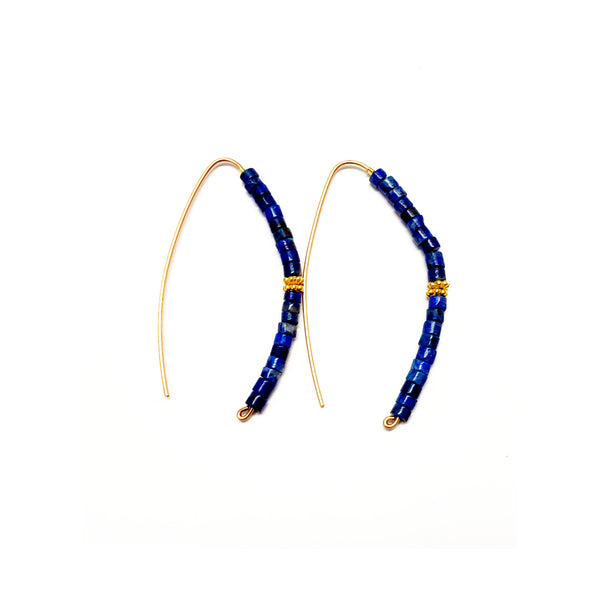 Slider Lapis Hoops - Size Options