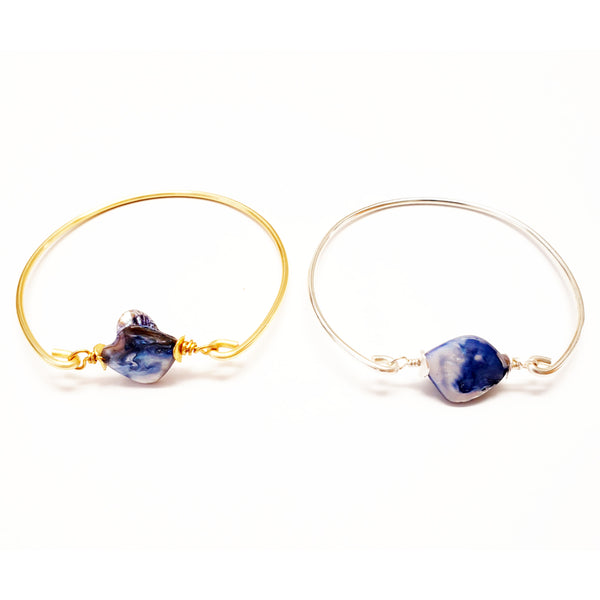 Blue Pearl Bangle