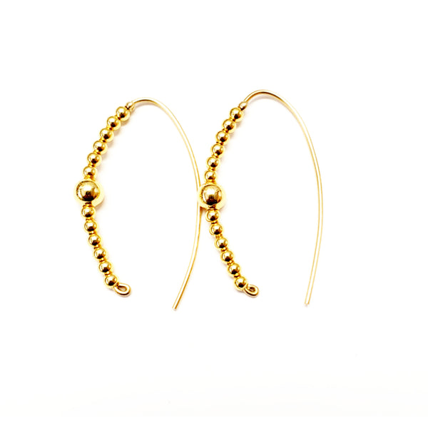 Gold Slider Hoops