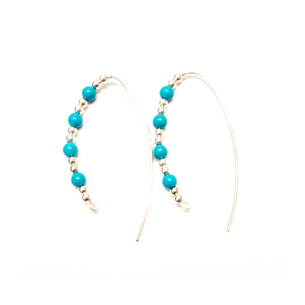 Turquoise Slider Hoops - Style Options