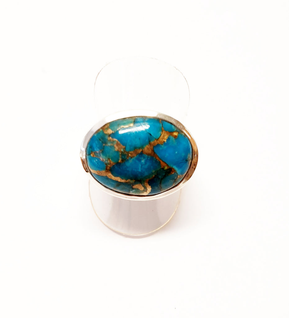 Turquoise Silver Cocktail Ring