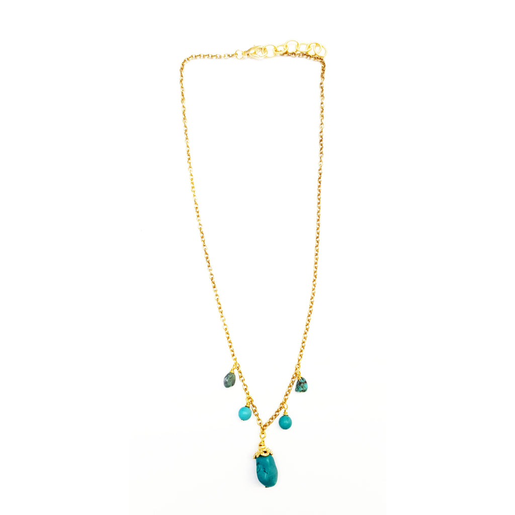 Turquoise Hobo Necklace