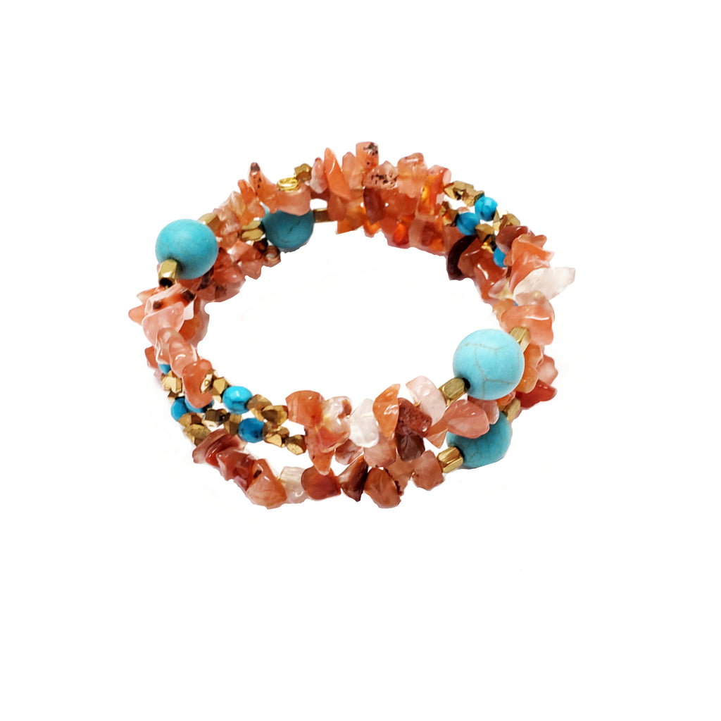 Carnelian Chip Gemstone Wrap - MINU Jewels