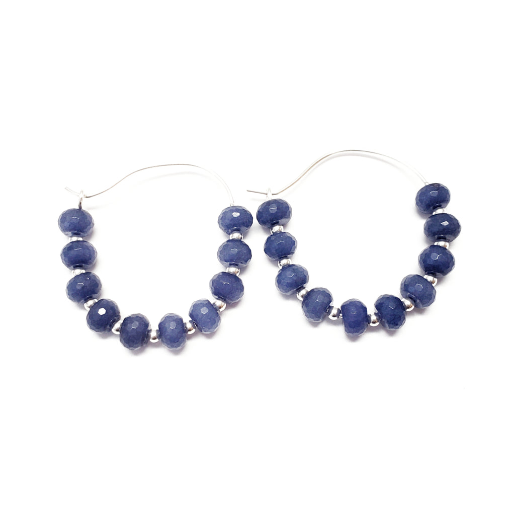 Blue Hoops - MINU Jewels