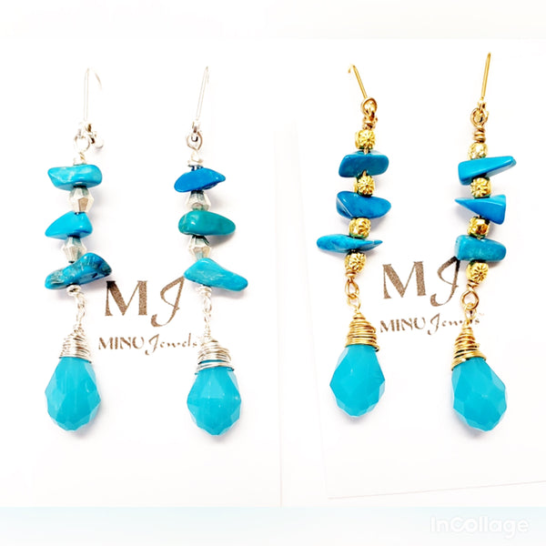 Turquoise Beach Earrings