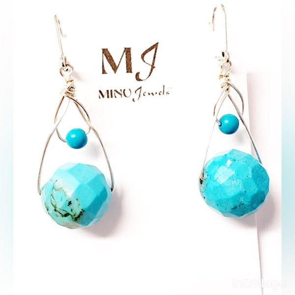 Blue Earth Earrings