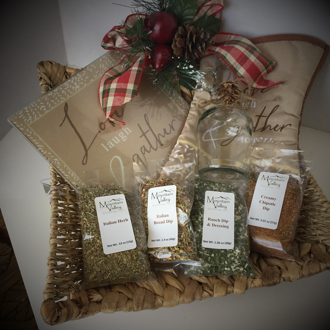 Delux Dressing and Dip Gift Basket