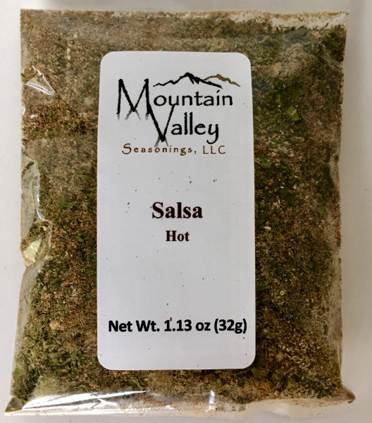 Salsa Mix Hot Heat. Great for Tomato Salsa, Tomatillo, Peach Salsa oradd to Guacamole. Naturally Gluten free.