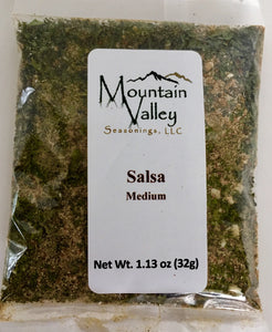 Salsa Mix Medium Heat. Great for Tomato Salsa, Tomatillo, Peach Salsa oradd to Guacamole. Naturally Gluten free.