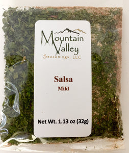 Salsa Mix Mild Heat. Great for Tomato Salsa, Tomatillo, Peach Salsa oradd to Guacamole. Naturally Gluten free.