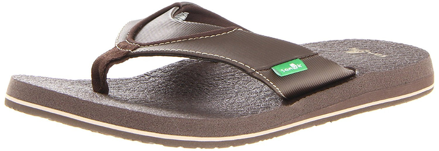 Sanuk Beer Cozy Flip Flop SMS2839 Brown