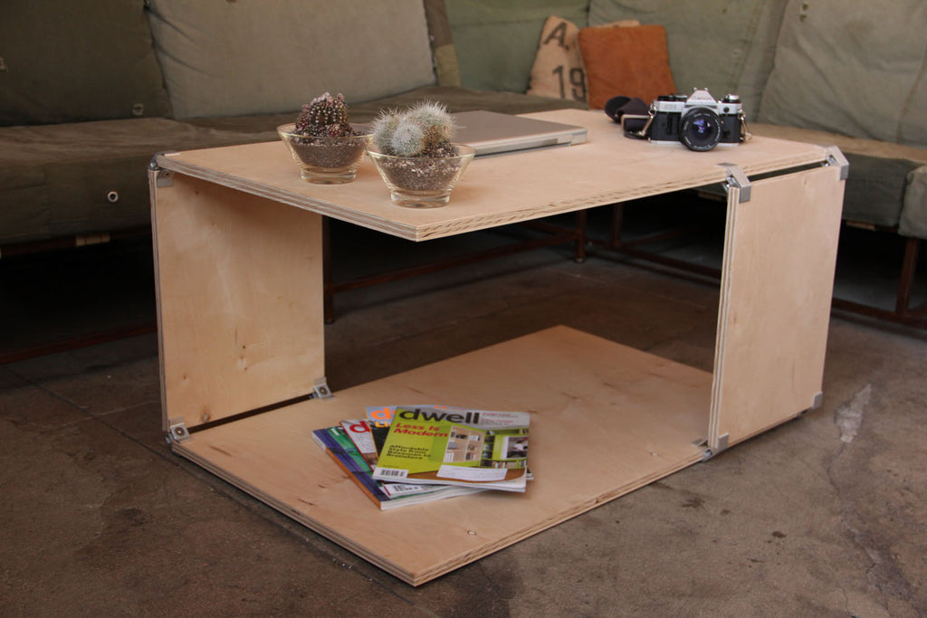 DIY plywood coffee table with PLY90 plywood clip bracket