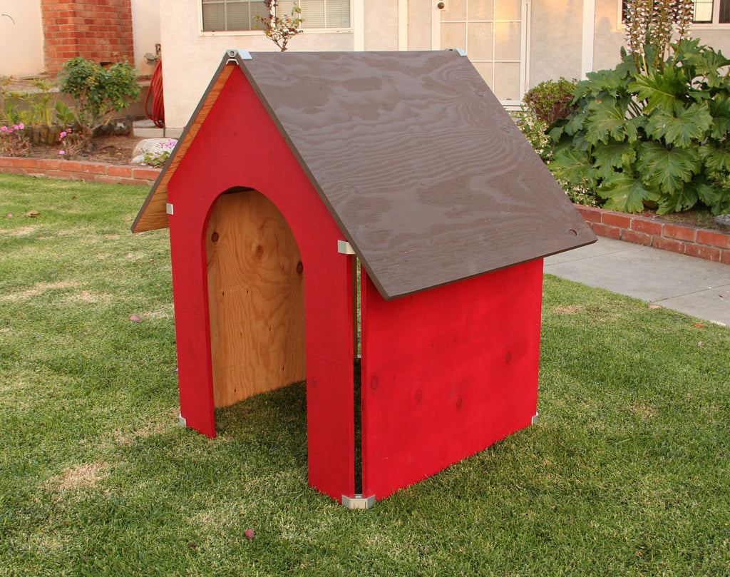 DIY plywood dog house with PLY90 plywood clip bracket