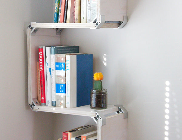DIY plywood wall shelf with PLY90 plywood clip bracket