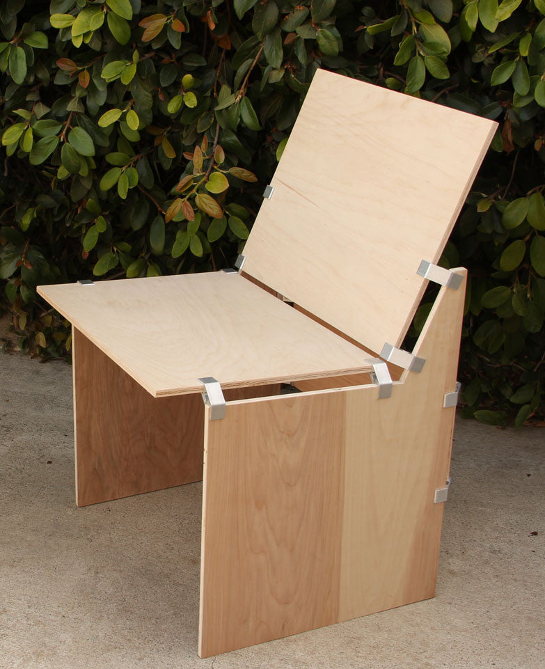 DIY plywood chair with PLY90 plywood clip bracket