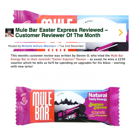 mulebar, energy bar, evans cycles, review, eastern express