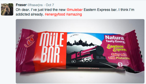 mulebar, energy bar, press, twitter, savoury energy, fairtrade, made in the uk