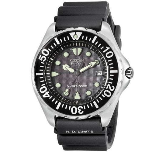 Citizen BN0000-04H Eco-Drive 300 Meter Professional Diver with Rubber Band