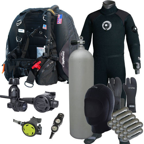 Zeagle F8, Ranger, D6 Drysuit Package