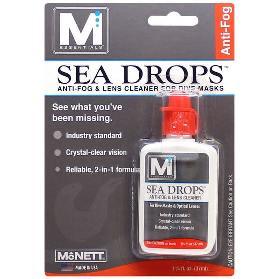 McNett Sea Drops Anti-Fog & Lens Cleaner, 1-14 fl oz (37 ml)