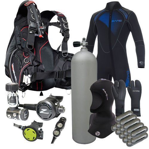 Zeagle Oynx, Element & Bare Wetsuit Package