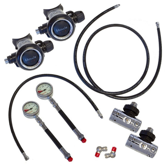 Hollis Sidemount Regulator Set