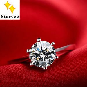 d1cd6e37b0 Certified 1 Carat Forever One Genuine 18K Solid White Gold Classic Design  Moissanite Diamond Anniversary Rings For Women Jewelry
