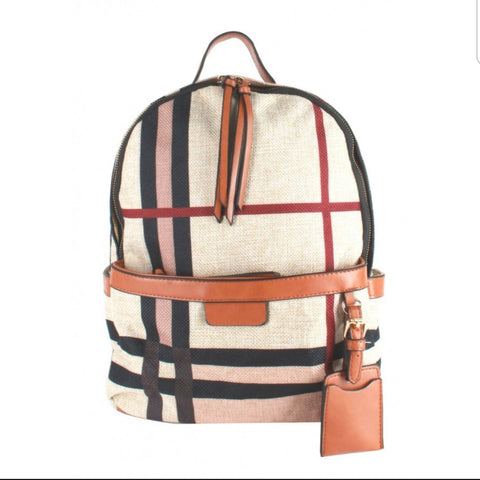 Linen cloth Backpack
