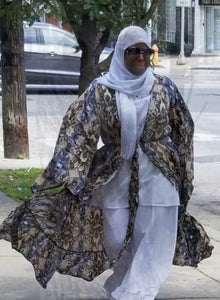Tan & Blue Snake Skin Duster