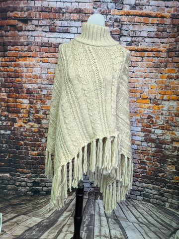 Cable Fringe Cape