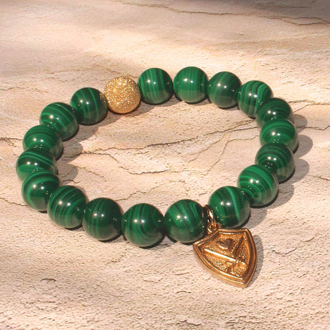 WIZARDLY Malachite Bracelet at Wizardly.com