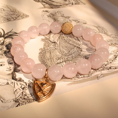 WIZARDLY Rose Quartz Bracelet at Wizardly.com
