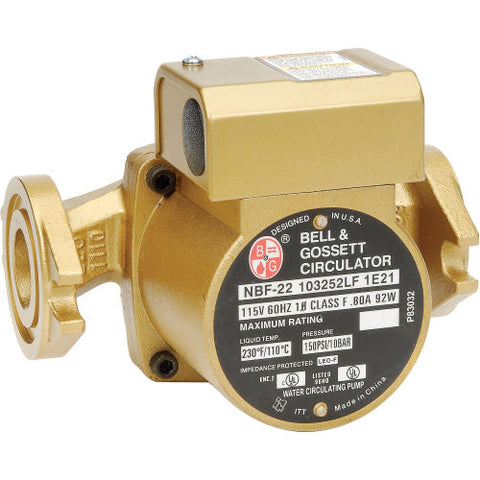 Bell & Gossett Circulator Pump, Single Speed, Bronze, NBF 33