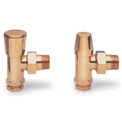 "Modern Valve Set (2 Valves) - 1/2"" Straight and Angle Valves"