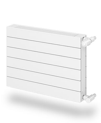 Décor Hot Water Radiator - 8 Tube H22 with Fins - Ht. 22-5/8""