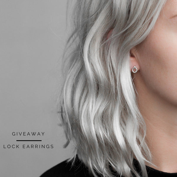 Instagram Giveaway / Lock earrings