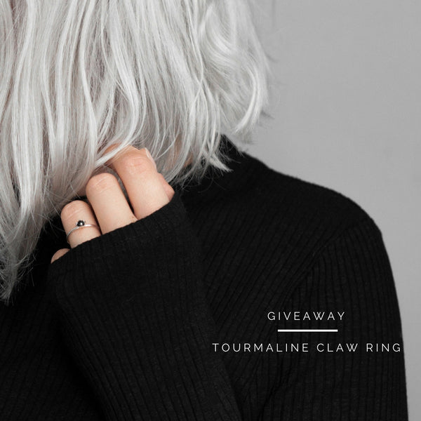 instagram giveaway / tourmaline claw ring