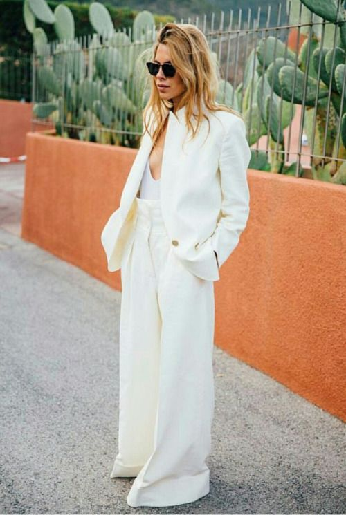 maja wyh, oversized outfit, all white