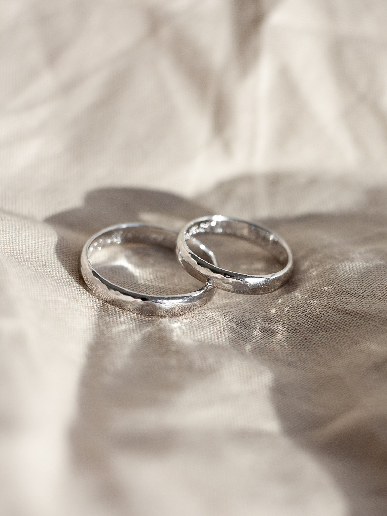 custom wedding rings in white gold
