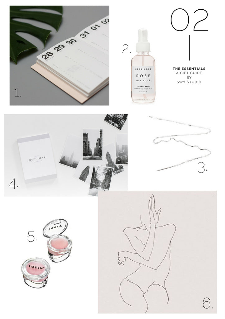 swy studio gift guide, christmas gift guide for minimalist, womens gift guide