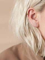 Band ear cuff in gold vermeil
